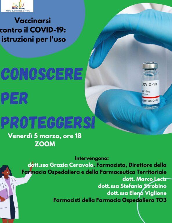 Covid e vaccini: un appuntamento online all'Istituto Maria Ausiliatrice di Giaveno