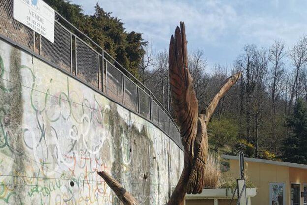 Avigliana: vandalizzata la statua di Luca Germena al Lago Grande