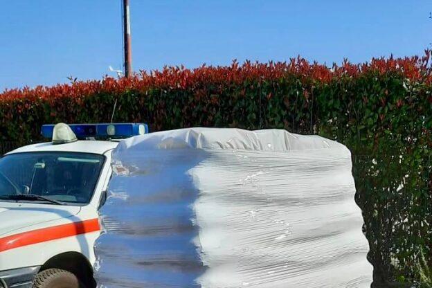 Settantacinque sacchi di pellet in dono alla Croce Rossa di Giaveno