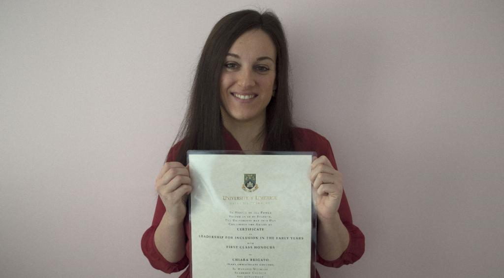 Irlanda, è della giavenese Chiara Brigato il premio per la miglior tesina della Regione di Dublino