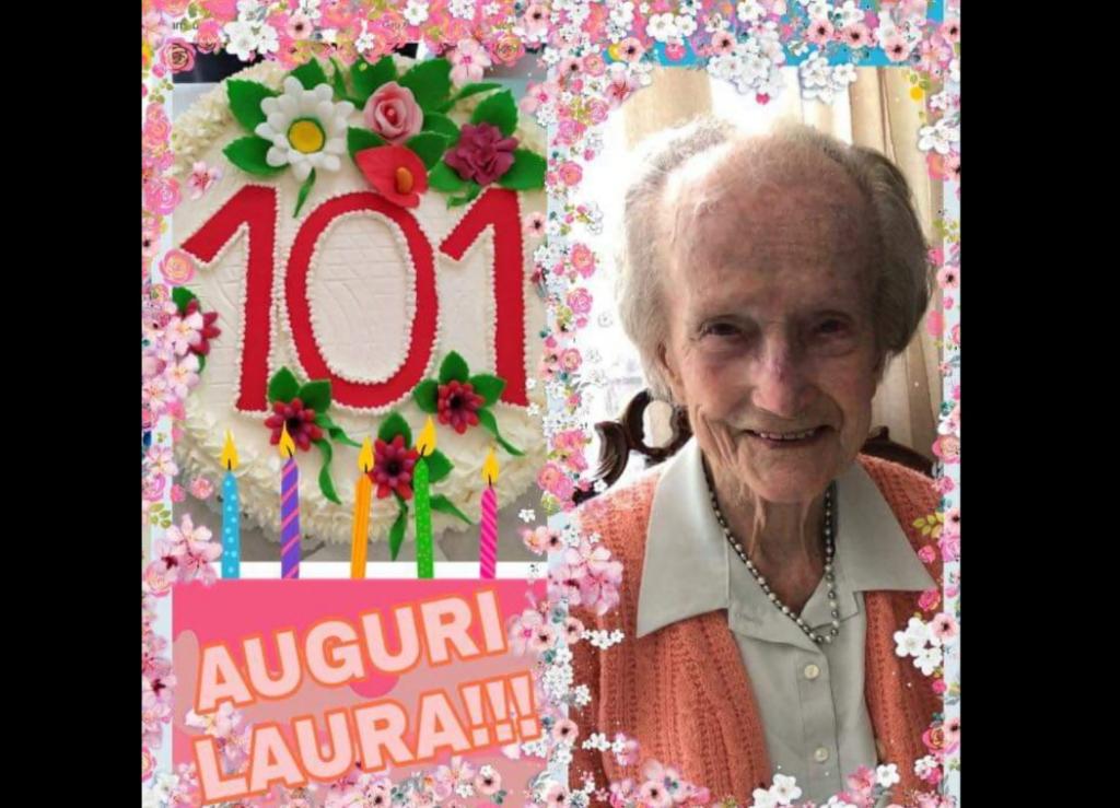Caprie e Condove in festa per i 101 anni della signora Laura Suppo