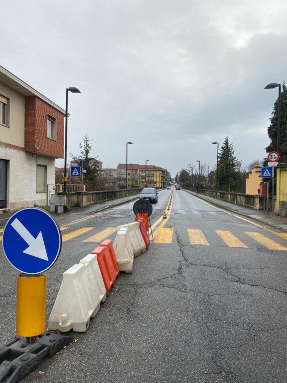 Il Ponte Nuovo di Alpignano a senso unico dal 3 maggio