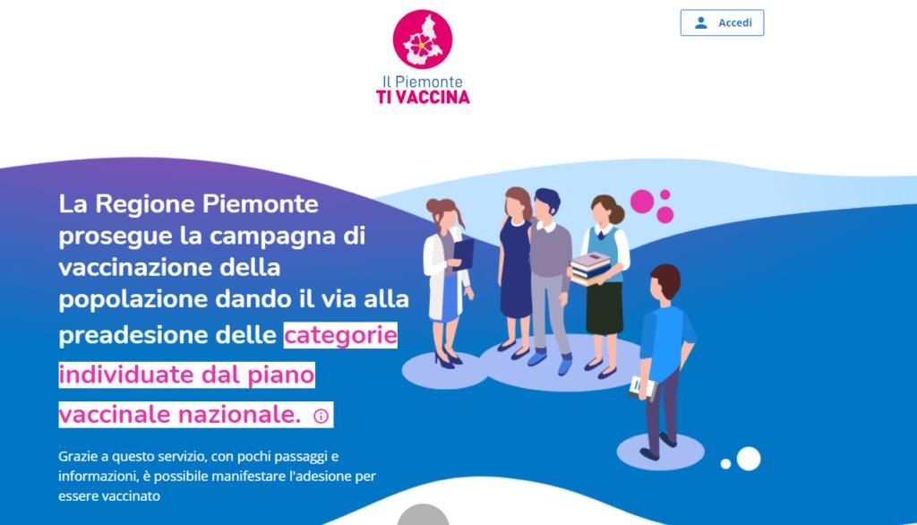 Dal 10 maggio sul sito ilpiemontetivaccina.it è disponibile il memorandum vaccinale