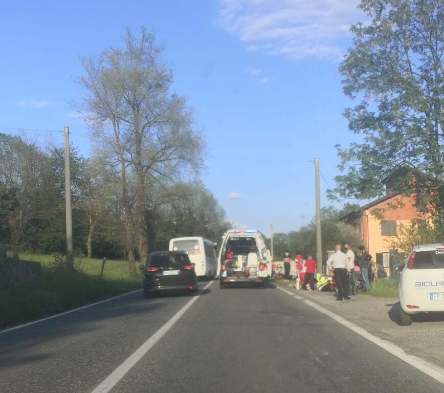 Giaveno, incidente stradale in via Avigliana