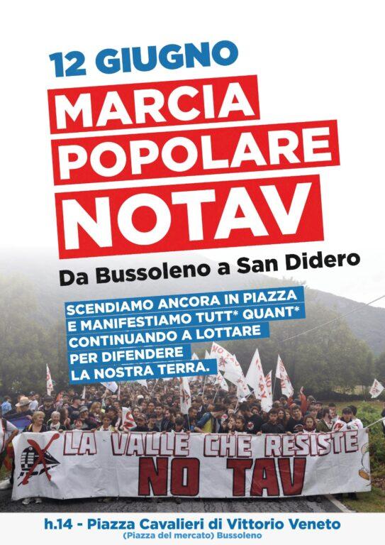 I No Tav in marcia, sabato 12 giugno, da Bussoleno a San Didero
