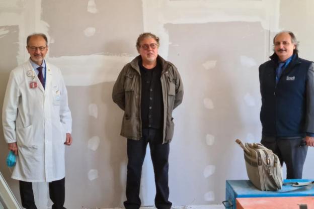 Sta per prendere vita il murale del Maestro Nunziante al Gemelli di Roma