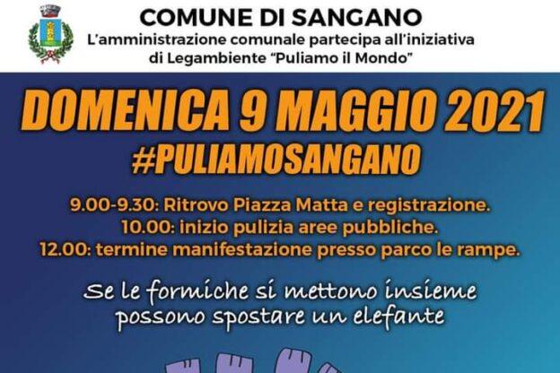 Domenica 9 maggio c'è #Puliamosangano