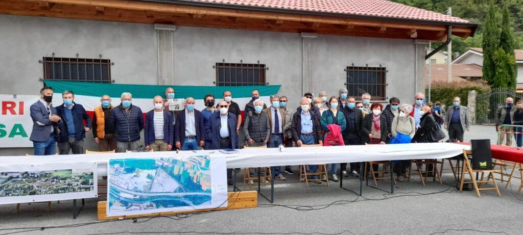 Continua la protesta degli amministratori locali contro l'autoporto di San Didero