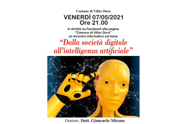 "Incontro ""Dalla società digitale all'intelligenza artificiale"""