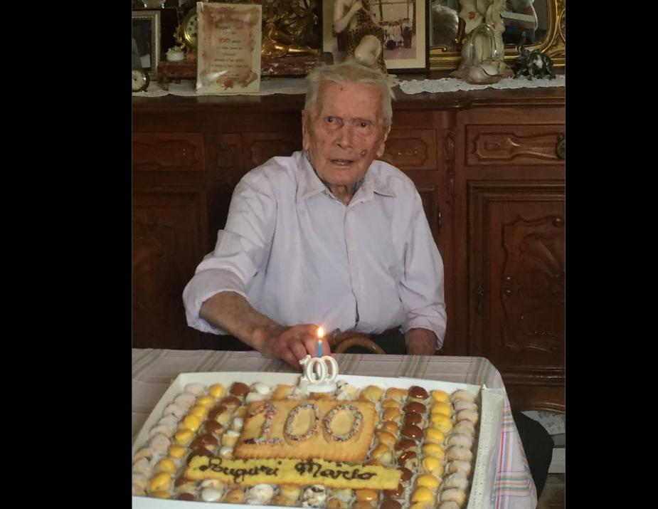 """Giaveno ha festeggiato i primi cent'anni di Mario Rege Gianas, il """"berlaitè"""""""