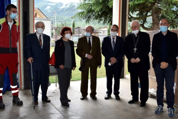 Mons. Nosiglia in visita al Polo della Protezione Civile di Bussoleno