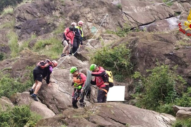Due escursionisti soccorsi sulla via Ferrata della Sacra di San Michele