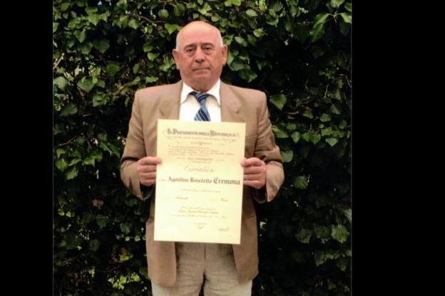 Chiomonte, il geometra Agostino Benedetto Cremona è Cavaliere