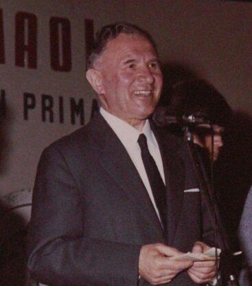 Emilio Giaccone alla premiazione dei Giochi di Primaverra del 1970