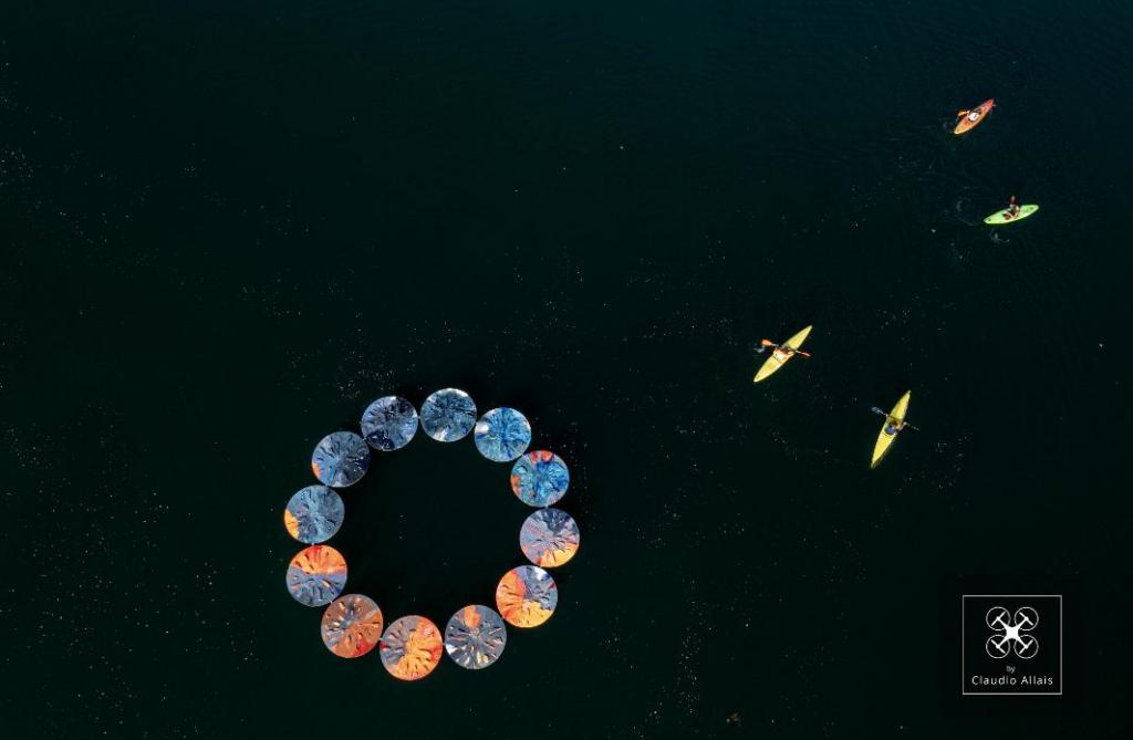 """""""Il fermarsi del tempo"""" ad Avigliana: l'opera d'arte sul Lago Grande"""