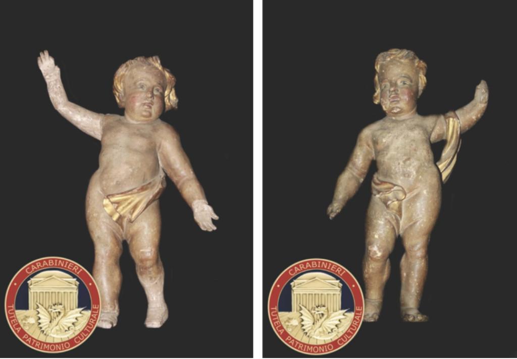 Susa, tornano in cattedrale due angeli lignei rubati quasi 40 anni fa