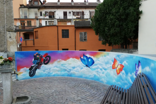 A Bussoleno c'è un murale per ricordare il giovane Samuele Naitza