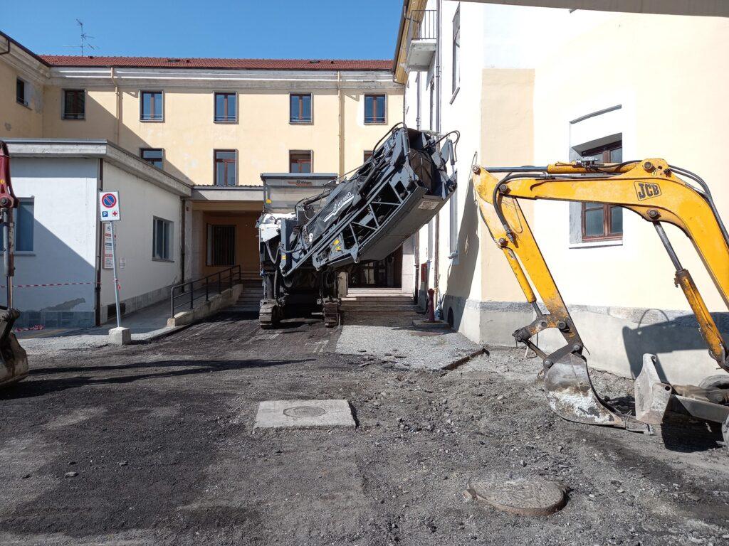 Lavori in corso ancora per qualche giorno all'ospedale di Susa