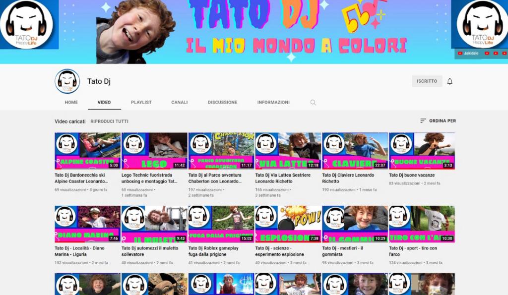 Villar Dora, è Tato DJ, 9 anni, il pù giovane influencer del web